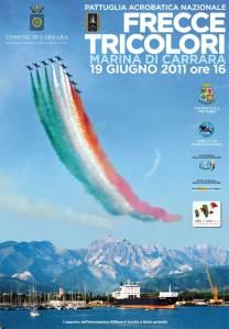 Esibizione Frecce tricolori a Carrara 2011